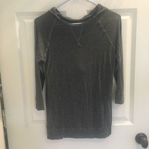 Zara gray hooded shirt